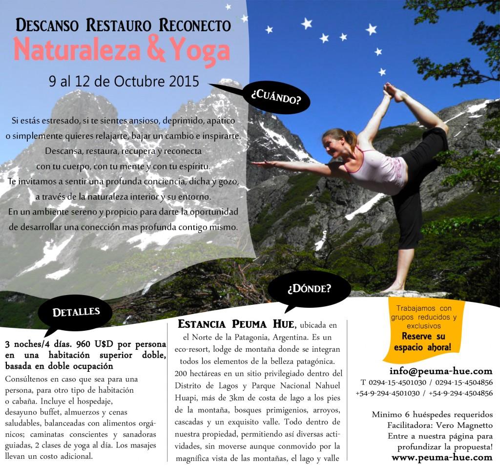 Retiro de Yoga en Peuma Hue, Bariloche, Oct 2015