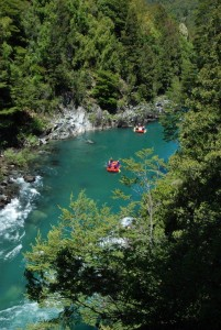 Whitewater rafting on Manso River, Bariloche