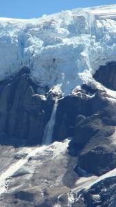 Glaciers calving at Mt Tronador