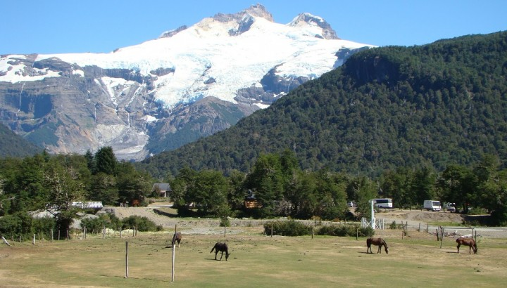 Mt Tronador from Pampa Linda